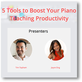 Piano Teacher Training Webinars with Tim Topham